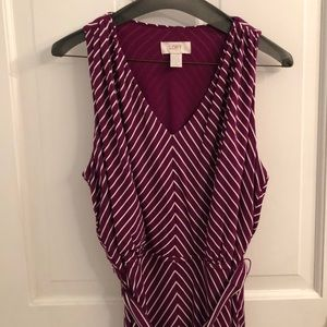 Ann Taylor LOFT midi striped dress